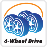 4-Wheel Drive: All-wheel traction and power.
