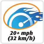Drive at up to 20 mph (32 km/h)!